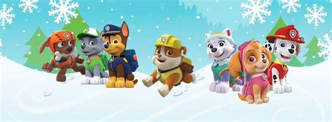 Paw Patrol Winter Series Zy638 nickalive paw patrol and rubble to help turn on cardiff s lights on