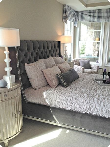 grey headboard bedroom ideas gray tufted headboard for the home pinterest