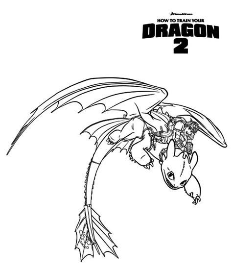 hiccup ride toothless in how to train your dragon coloring