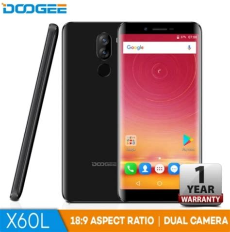 doogee x60l arrives in ph; 18:9 screen, dual cameras for