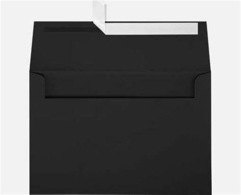 Square A8 midnight black a8 envelopes square flap 5 1 2 x 8 1 8