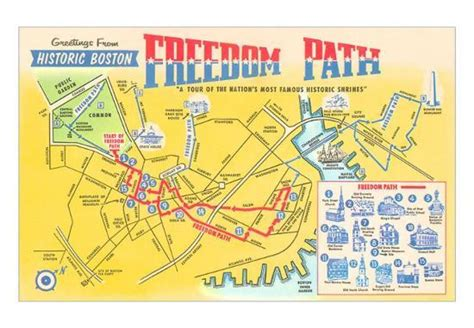 freedom trail boston map freedom trail map of historic boston massachusetts