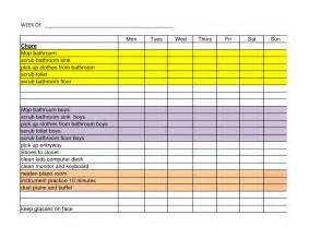 Chores Template by 28 Daily Chore Chart Template 11 Sle Weekly Chore