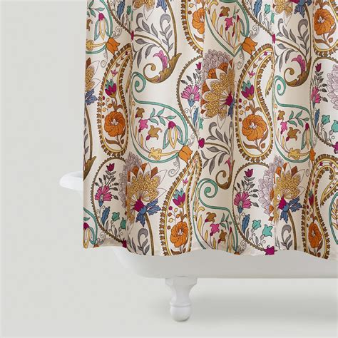 paisley shower curtains paisley floral shower curtain world market