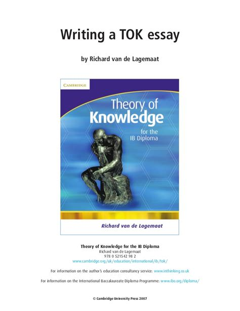 Ib Theory Of Knowledge Essay by Theory Of Knowledge Ib Essay Ncufoundation X Fc2