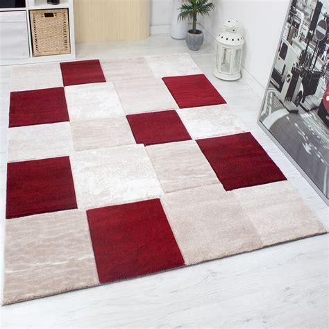 teppich läufer modern teppich modern designer klassik kariert meliert in braun