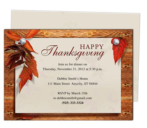 9 Best Images Of Thanksgiving Printable Invitation Templates Thanksgiving Invitation Template Free Thanksgiving Invitation Templates