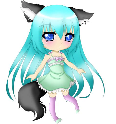 anime chibi wolf chibi lineart by ms oblibious colored by