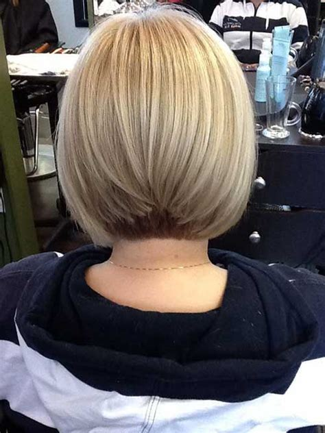graduated layered blunt cut hairstyle 10 ash blonde bob short hairstyles 2017 2018 most