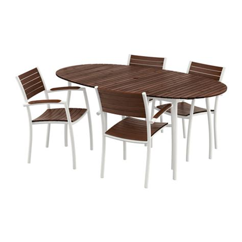 ikea outdoor dining vindals 214 table and 4 chairs with armrests ikea
