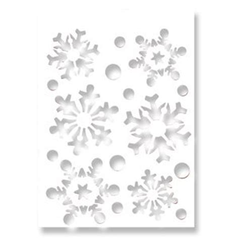 snowflake stencils for windows snowflake design a4 size re usable stencil c187 co uk toys