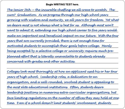 Act Writing Sle Essays writing sle 6 page 1