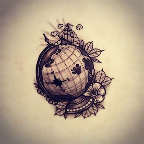 tattoo ideas globe globe tom bartley skinterest x tattoos x ink pinterest