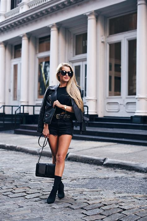 high waisted shorts mid calf boots   olivia rink