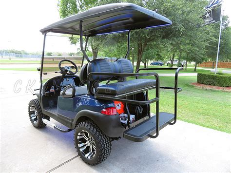 golf cart rear seat folding footrest rear seats and cargo beds for golf carts