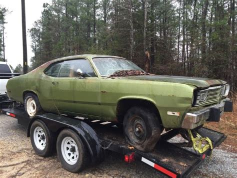 plymouth duster coupe  green  sale