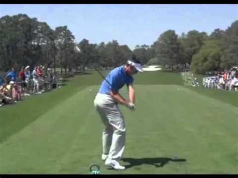 golf swing down the line view charl schwartzel driver golf swing down the line masters