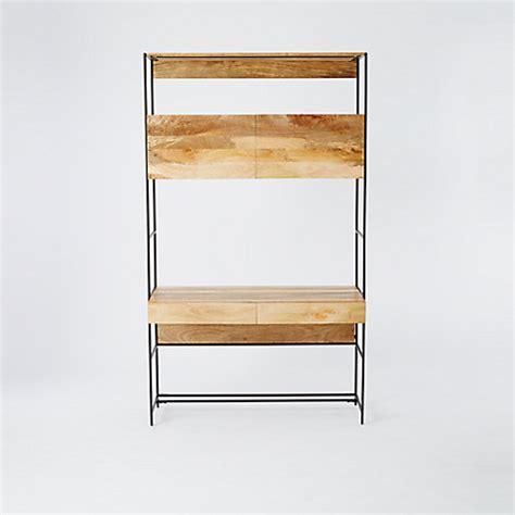 elm industrial desk buy elm industrial modular 49 quot desk lewis