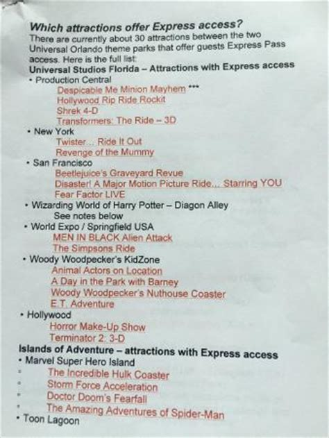 list of express pass rides (page 1) picture of universal