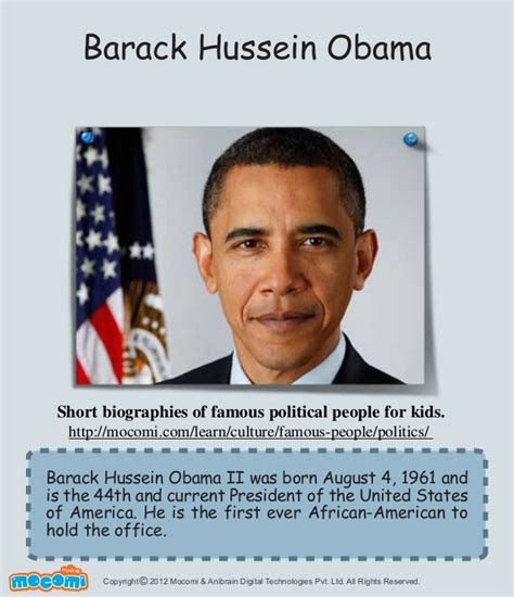 barack obama biography presentation barack obama famous politician for kids