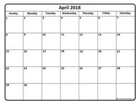Calendar Thru 2018 April 2018 Calendar April 2018 Calendar Printable
