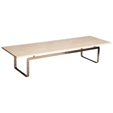 travertine coffee table travertine coffee table at 1stdibs