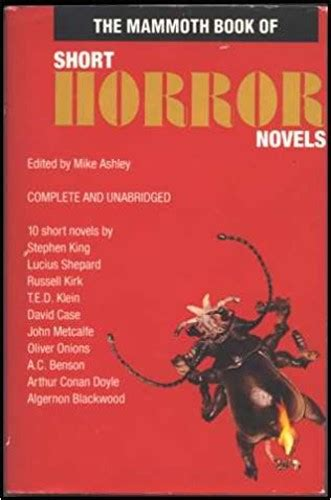 the mammoth book of short horror novels the monkey insomnia