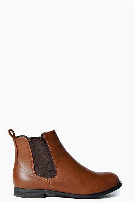 boohoo womens elastic insert flat chelsea boot ebay