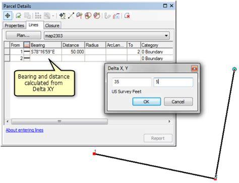 tutorial arcgis 10 3 herramienta cogo bearing distance and delta x y help arcgis for desktop