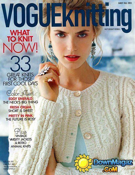 knit magazine vogue knitting early fall 2013 187 pdf magazines