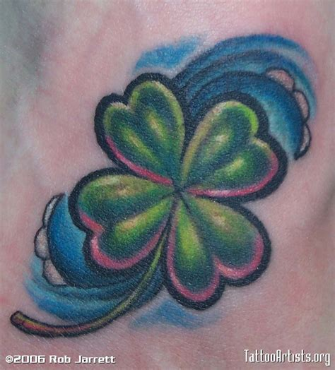 small shamrock tattoo pin small shamrock on