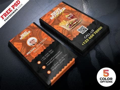 cafe business card template free free restaurant business card template psd
