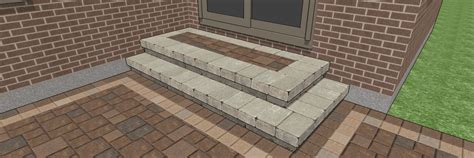 Patio Designs With Steps Step Designs For Your Patio Downloadable Plans