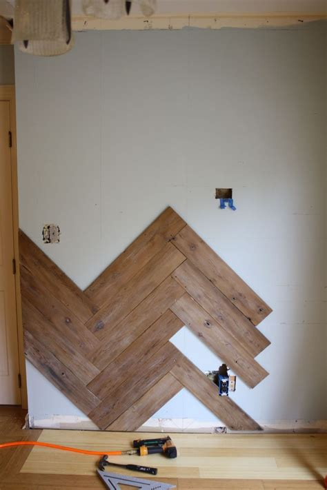 Hometalk   Stunning Herringbone Plank Wall, Upcycled From
