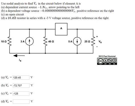 source analysis 1 7 univ 200 solved use nodal analysis to find vx in the circuit below