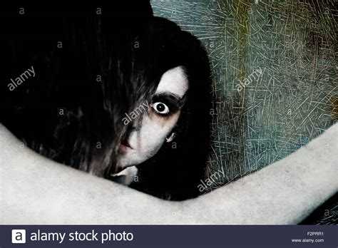 A Vengeful a yurei or onryo a vengeful ghost as often seen in