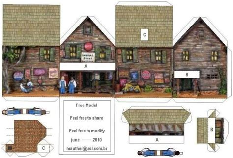 1000 Images About Papercraft Houses On Model - here a simple desktop paper model but wick can make your
