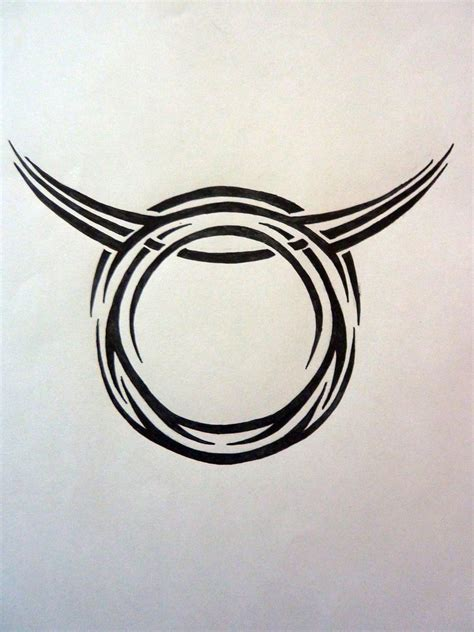 taurus tribal tattoo tribal zodiac taurus by magpievon on deviantart