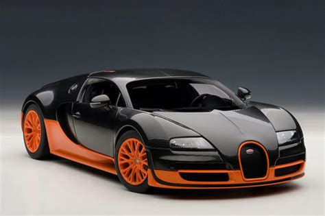 black and orange bugatti models autoart 1 18 bugatti veyron sport black