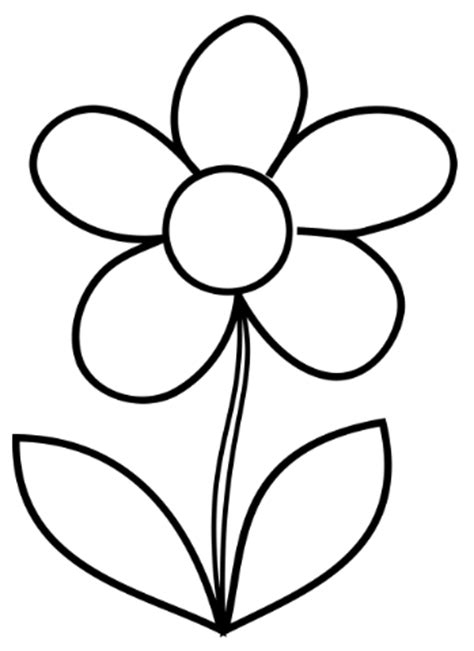 easy flower template simple flower coloring page flower