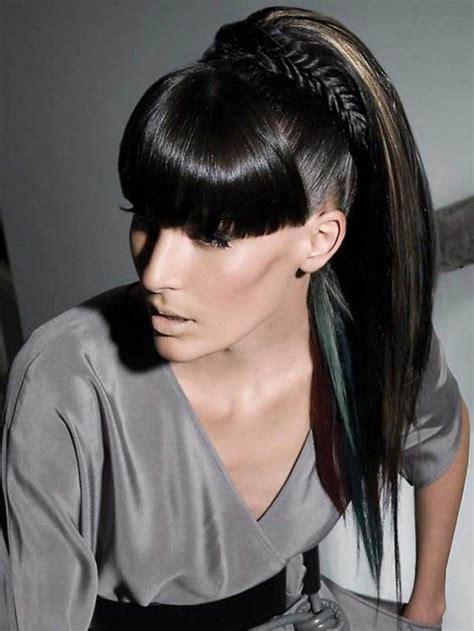 scoup bangs braid ponytail 7 best black ponytail hairstyles images on pinterest