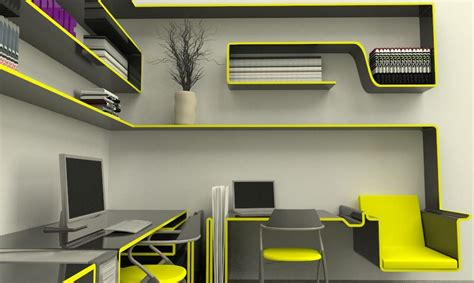 Futuristic office furnishing design   For the Home
