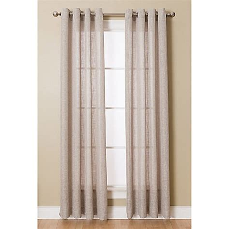 curtains 95 inches buy layton 95 inch grommet top sheer window curtain panel
