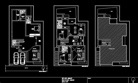 duplex house  bedrooms india dwg plan  autocad