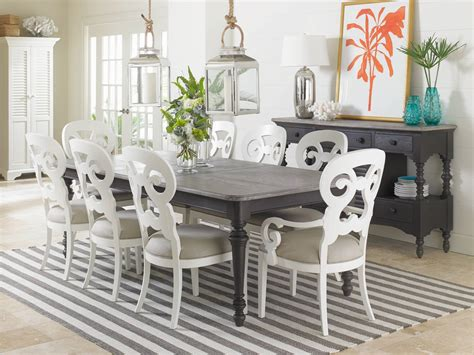 coastal dining room tables coastal living dining room rectangular leg table 411 21 31