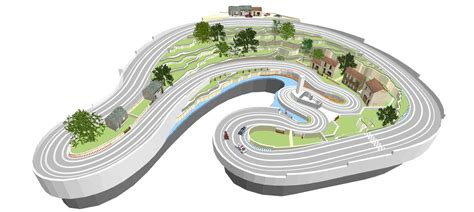 ultimate racer layout 3d layouts scenery with ultimate racer slot car