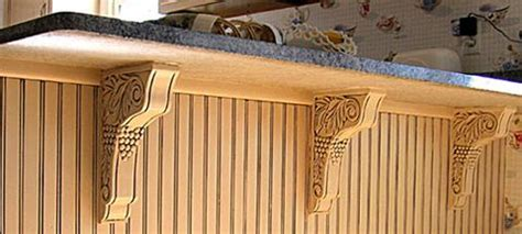 cherry corbels a perfect accent for bar project osborne how to make your kitchen countertop have the appearance of