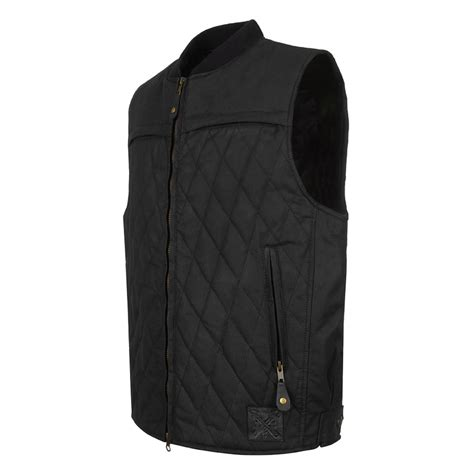 motorcycle vest doe lowride motorcycle wax vest black