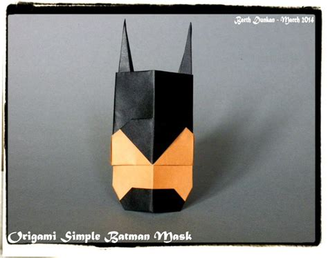 How To Make Paper Batman Mask - 17 best images about batman origami on