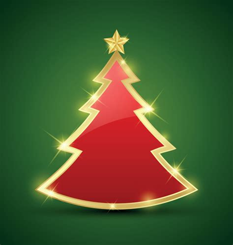 elements of abstract christmas tree vector material 04